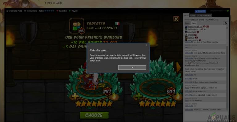 So beheben Sie, dass Unity Web Player nicht funktioniert