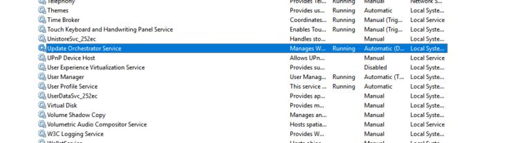 """Was ist """"Update Orchestrator Service"""" und sollte es deaktiviert werden?"""