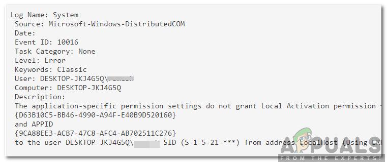 """So beheben Sie den Fehler """"Die anwendungsspezifischen Berechtigungseinstellungen gewähren keine lokale Aktivierungsberechtigung für die COM Server-Anwendung"""""""