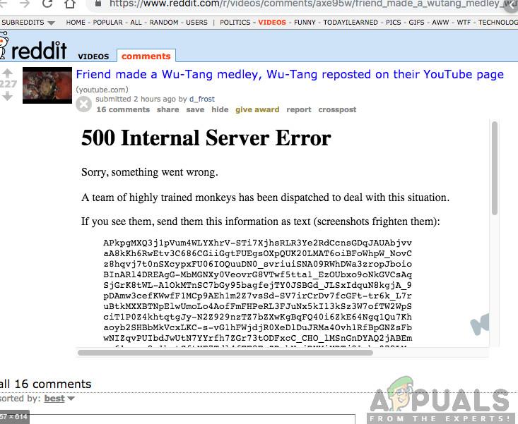 So beheben Sie Fehler 500 in Reddit