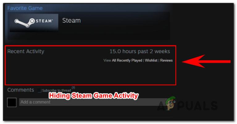 Wie man Steam-Aktivitäten vor Freunden versteckt