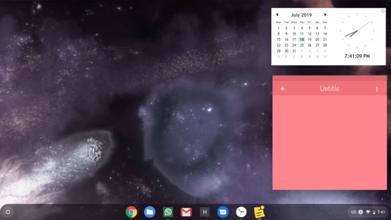 So fügen Sie dem Chromebook-Startbildschirm Widgets hinzu