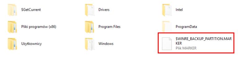 Was ist: $ WINRE_BACKUP_PARTITION.MARKER Datei und sollte ich sie löschen?