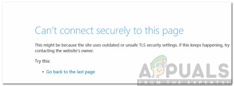 Fehlerbehebung Kann keine sichere Verbindung zu dieser Seite in Microsoft Edge herstellen