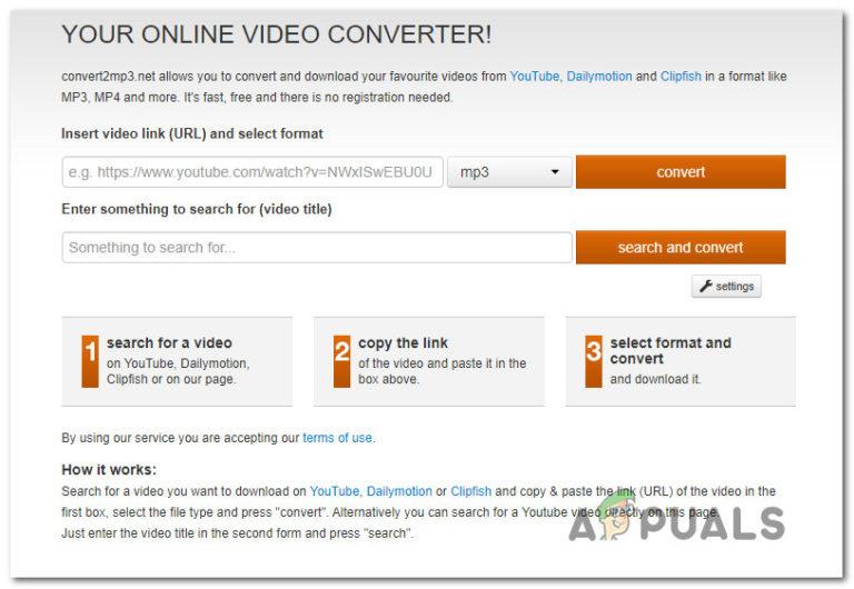 So beheben Sie Probleme mit Convert2MP3, die nicht funktionieren