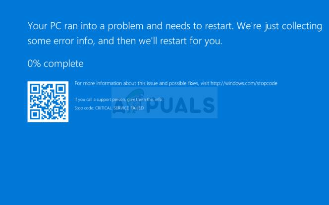 Wie behebt man den BSOD CRITICAL_SERVICE_FAILED unter Windows?