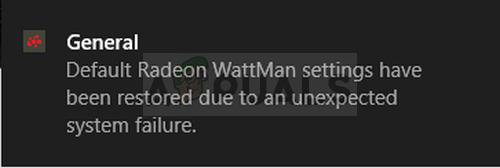 """Wie behebt man den Fehler """"Standard-Radeon-WattMan-Einstellungen wurden aufgrund eines unerwarteten Systemausfalls wiederhergestellt"""" unter Windows?"""