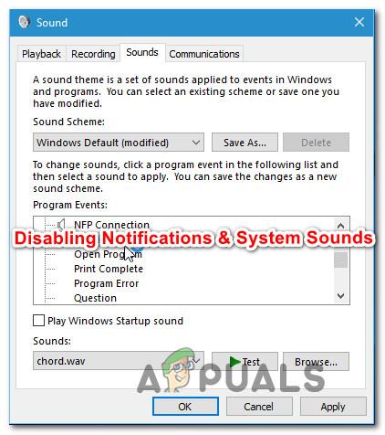 Deaktivieren von Benachrichtigungs- und Lautstärketönen unter Windows 10