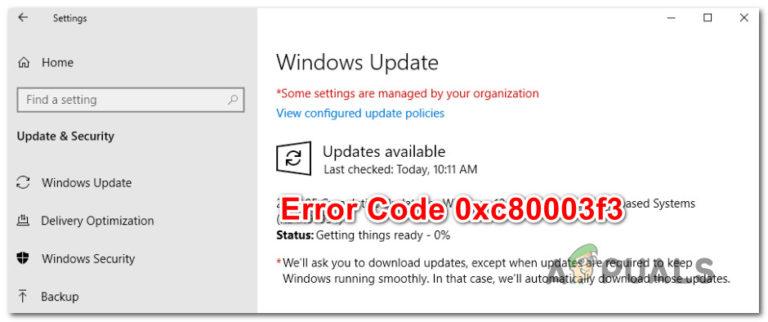 So beheben Sie den Windows Update-Fehler 0xc80003f3