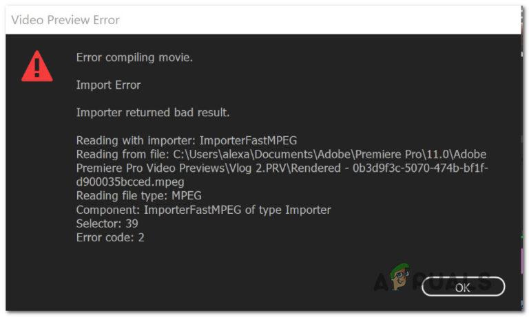 So beheben Sie den Fehler beim Kompilieren von Filmen in Premiere Pro