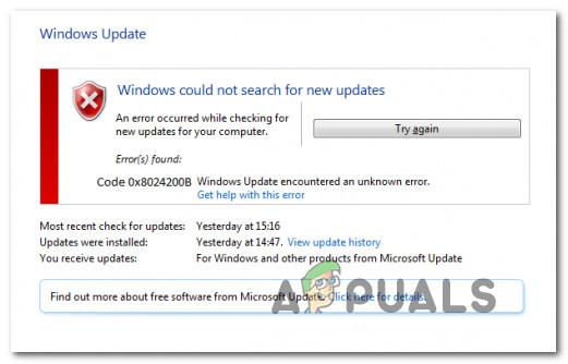 So beheben Sie den Windows Update-Fehler 0x8024200B
