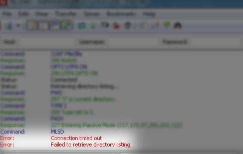"""So beheben Sie den Fehler """"Verzeichnisliste konnte nicht abgerufen werden"""" in FileZilla"""