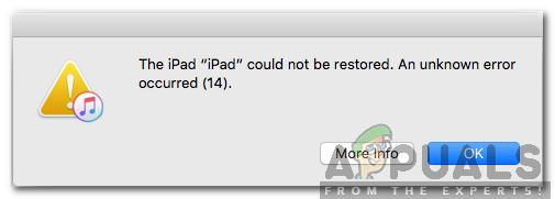 Wie man das iPhone repariert, konnte nicht aktualisiert werden.  Fehler 14 'beim Aktualisieren des iPhone?