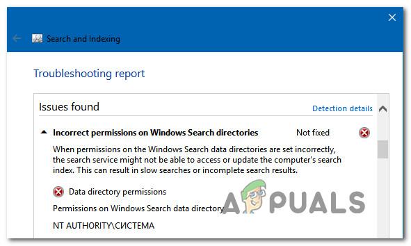 """So beheben Sie das Problem """"Falsche Berechtigungen für Windows-Suchverzeichnisse"""""""