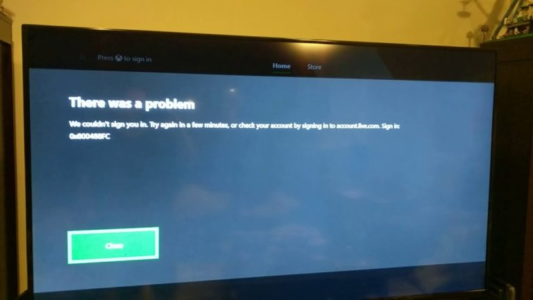 So beheben Sie 'Fehlercode 0x800488fc' auf Xbox