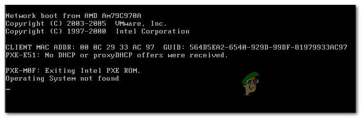 Fix: VMware-Betriebssystem nicht gefunden