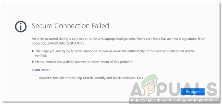 So beheben Sie SEC_ERROR_BAD_SIGNATURE in Firefox