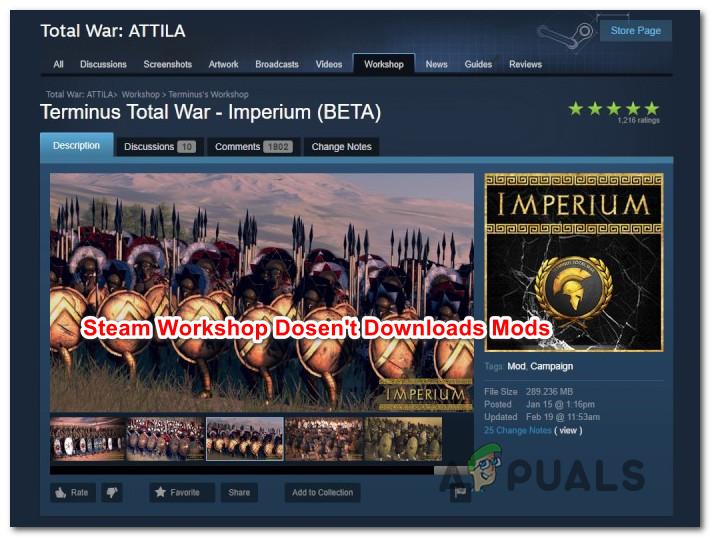 Fix: Steam Workshop lädt keine Mods herunter