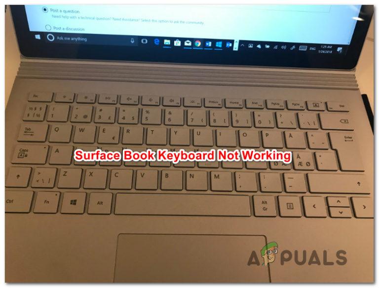So beheben Sie, dass die Surface Book-Tastatur nicht funktioniert