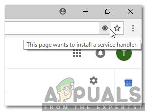 """Was bedeutet die Meldung """"Diese Seite möchte einen Service Handler installieren"""" und wie wird sie aktiviert?"""