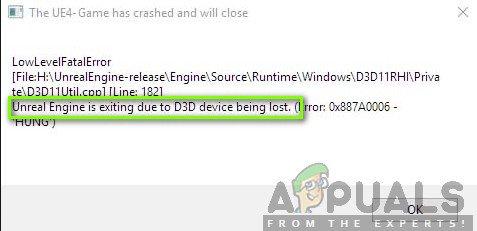 So beheben Sie den Fehler 'Unreal Engine wird beendet, weil das D3D-Gerät verloren geht'
