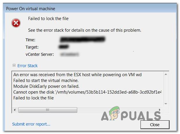 Fix: VMware konnte die Datei nicht sperren
