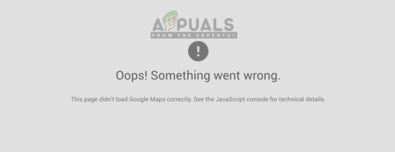 Fix: Diese Seite kann Google Maps nicht richtig laden