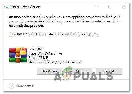 Fix: Fehler 0x80071771 unter Windows 10