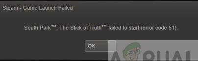 Fix: Fehlercode 51 (Spiel konnte nicht gestartet werden) bei Steam