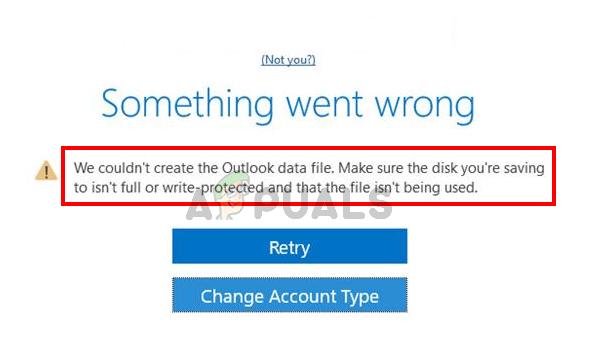Fix: Die Outlook-Datendatei konnte nicht erstellt werden