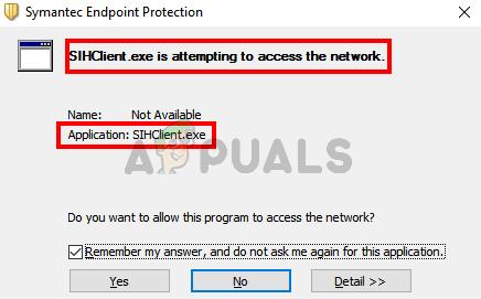 Fix: Sihclient.exe versucht, auf das Netzwerk zuzugreifen