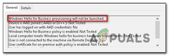 Fix: Windows Hello für Business Provisioning wird nicht gestartet
