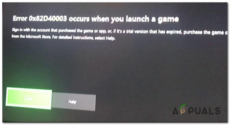 Fix: Fehler 0x82d40003 auf Xbox One
