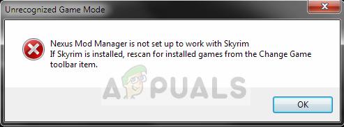 Fix: Nexus Mod Manager ist nicht für die Arbeit mit Skyrim eingerichtet