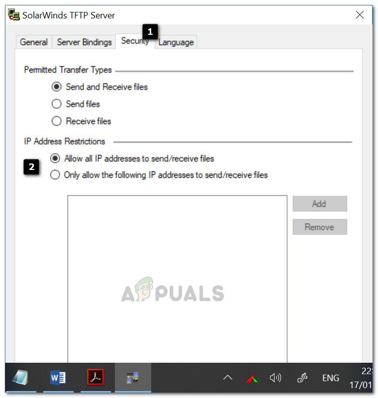 So richten Sie den TFTP-Server unter Windows 10 ein und konfigurieren ihn