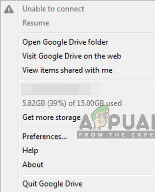 Fix: Google Drive kann keine Verbindung herstellen