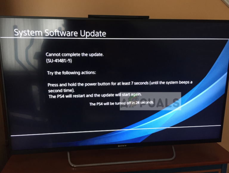 Fix: Der Update-Fehler SU-42481-9 auf PS4 kann nicht abgeschlossen werden
