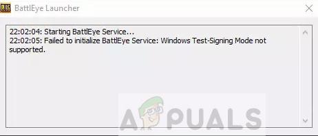 Fix: BattlEye-Dienst konnte nicht initialisiert werden 'Windows-Test-Singing-Modus wird nicht unterstützt'
