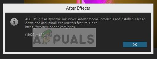 Fix: Adobe Media Encoder ist nicht installiert