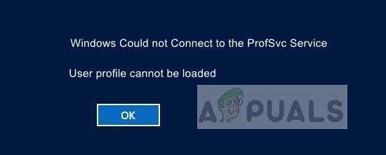 Fix: Windows konnte keine Verbindung zum ProfSvc-Dienst herstellen