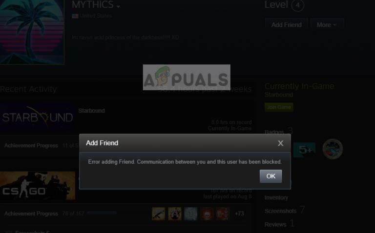 Fix: Fehler beim Hinzufügen eines Freundes bei Steam