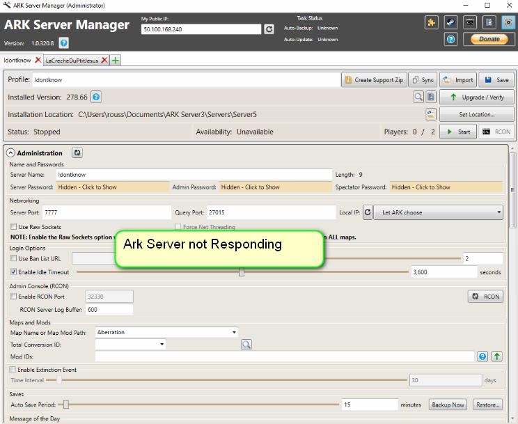 Fix: Ark Server reagiert nicht