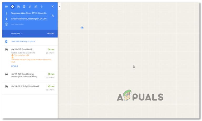 Fix: Google Maps funktioniert nicht in Chrome