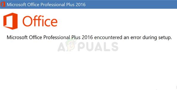 Fix: Microsoft Office Professional Plus 2016 hat beim Setup einen Fehler festgestellt