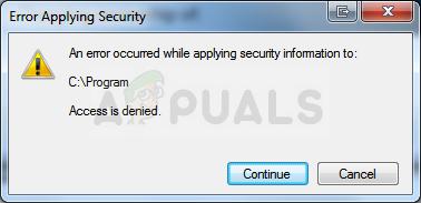 Fix: Beim Anwenden von Sicherheitsinformationen ist ein Fehler aufgetreten