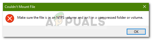 Fix: Stellen Sie sicher, dass die Datei ein NTFS-Volume ist und sich nicht in einem komprimierten Ordner oder Volume befindet