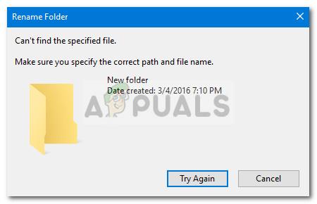 Fix: Ordner kann unter Windows 10 nicht umbenannt werden