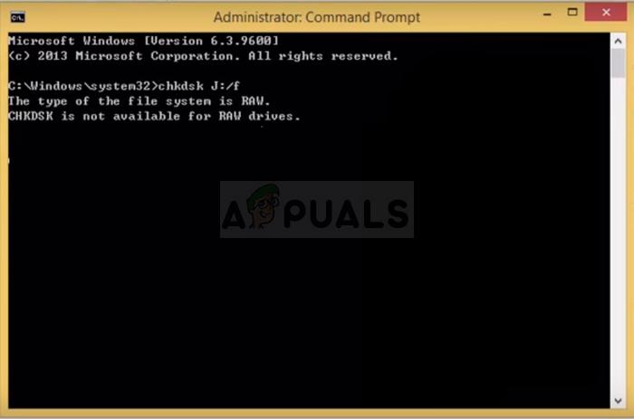 Fix: CHKDSK ist für RAW-Laufwerke nicht verfügbar