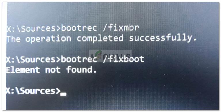 Fix: Boorec / Fixboot-Element unter Windows 10 nicht gefunden