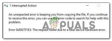 Fix: Fehler 0x800701E3 unter Windows 7, 8.1, 10
